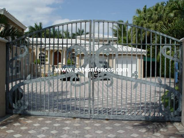 Musical Notes Wrought Iron Or Aluminum Driveway Gates