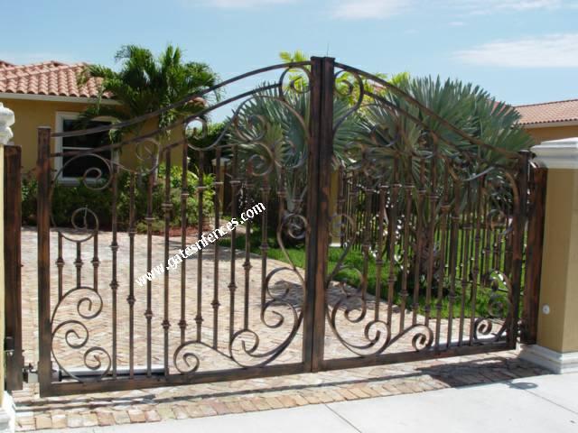 Iron gate design wrought iron gate designs wrought iron gates - Sea Shells Driveway Gate Automatic Gate Electric Gate