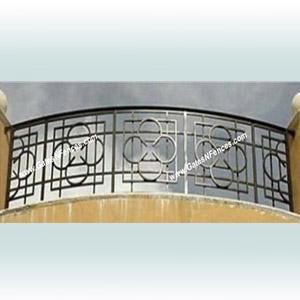 railings custom decorative railings aluminum metal deck porch balcony. Black Bedroom Furniture Sets. Home Design Ideas