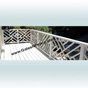 Modern Set Aluminum Railings Steel Rails